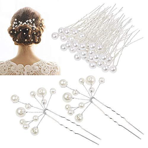 Vintage Pearl Flower Crystal Hai...