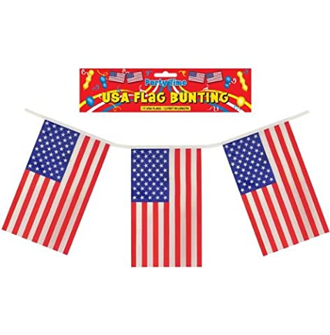 USA Plastic Flag Bunting - Single by Partyrama
