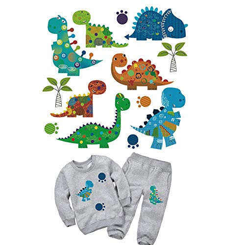 fllyingu Eisen auf Transfers Patch Baby Kind Tier Muster T-Shirt Inkjet druckbare Eisen Cartoon DIY Wärmeübertragung Stoff Aufkleber,Kann für die Übertragung von Kleidungsmustern verwendet Werden -