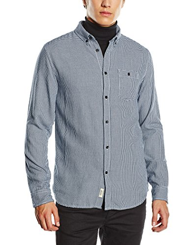 JACK & JONES Herren Slim Fit Freizeit Hemd jjorHOUNDSTOOTH SHIRT L/S ONE POCKET, Gr. Small, Mehrfarbig (White HOUNDSTOOTH. SLIM FIT) (Hemd White Pocket)