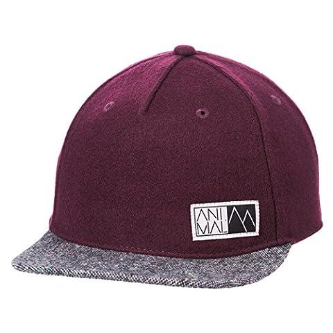 Animal Roller Flat Peak Cap - Mauve Purple