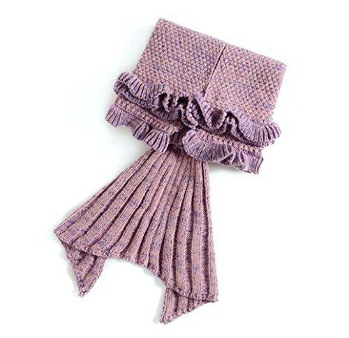 Das beste Mädchen kinder Meerjungfrau Schlafsack Kostüm Fischschwanz Decke Schwanz Flosse Handgemachte Blanket Häkel