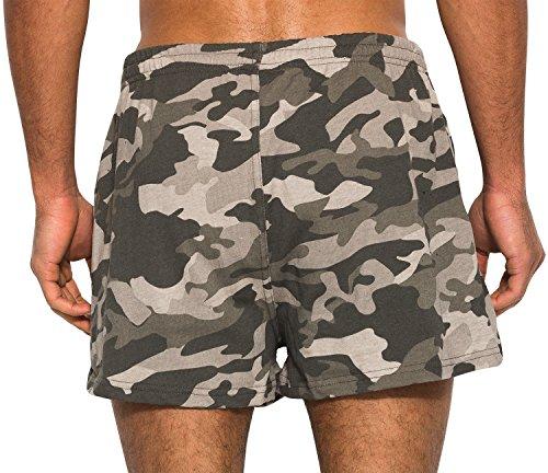 ELLESSE Ribollita Men's Gym Shorts | Woodland Camo Medium (Shorts Jersey Baumwolle Knit)