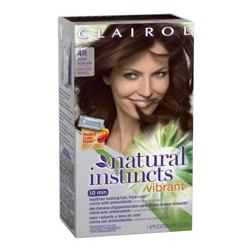 Clairol Colorant crème Natural Instincts Vibrant - Avec antioxydants - Couleur 4 - Brun foncé
