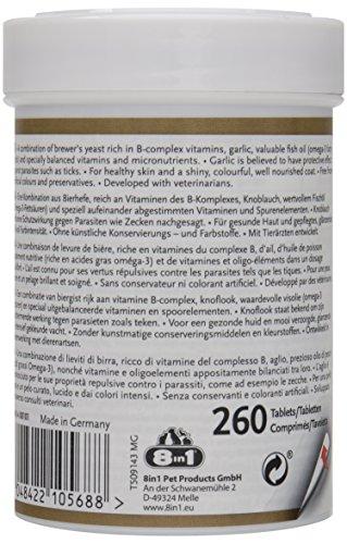 8in1 Bierhefe Tabletten (Nahrungsergänzung, für gesunde Haut und glänzendes Hundefell, reduziert nährstoffmangel-bedingtes Haaren), 1 Dose (260 Tabletten) - 3