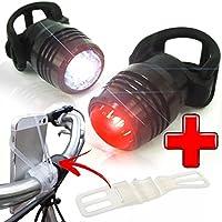 LED Fahrradbeleuchtung ,OHQ ahrrad Licht Set USB Wiederaufladbare Scheinwerfer Rücklicht + Smart Fahrrad Telefon Halterung