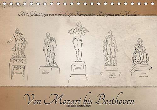 Von Mozart bis Beethoven (Tischkalender 2019 DIN A5 quer): Berühmte Komponisten in eleganten Illustrationen mit Informationen zu deren Bezug zur Musikstadt Wien. (Monatskalender, 14 Seiten ) por Gregor Hartmann