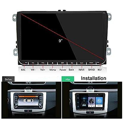 Cikuso-Android-60-Auto-9-Zoll-Radio-Stereo-Bildschirm-GPS-Navigation-Bluetooth-40-USB-Spieler-Blinken-Speicher-fr-Volkswagen-Passat-Golf-Mk5-Mk6-Jetta-T5-EOS-Touran-Seat-Sharan