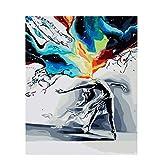 Painting-YC Mach Es Selbst Malen Nach Zahlen Kits Geschenk Für Erwachsene Kinder Home Haus Dekor Abstrakter Tanz 16×20