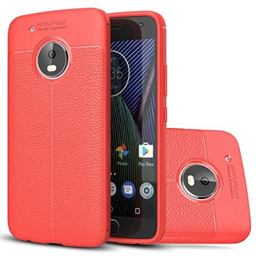 Moto G5 Weich Hülle,EVERGREENBUYING flexibel Silikon Cover TPU XT1685 / XT1672 Tasche Ultra-dünne Handyhülle Rückschale Case für Motorola MOTO G5 (5 inch) Grau Rot