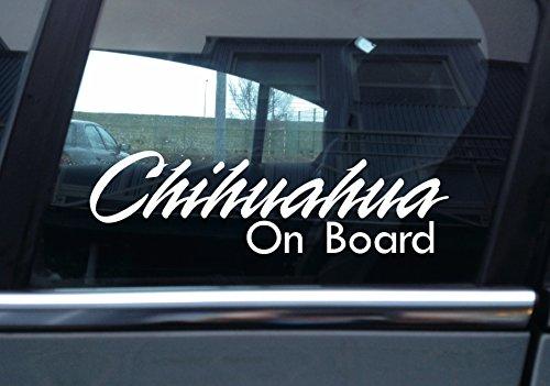 "\""Chihuahua on Board\"" Hund, Auto Vinyl Aufkleber"