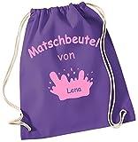 Matschbeutel mit Namen ! Gymbag lila-pink