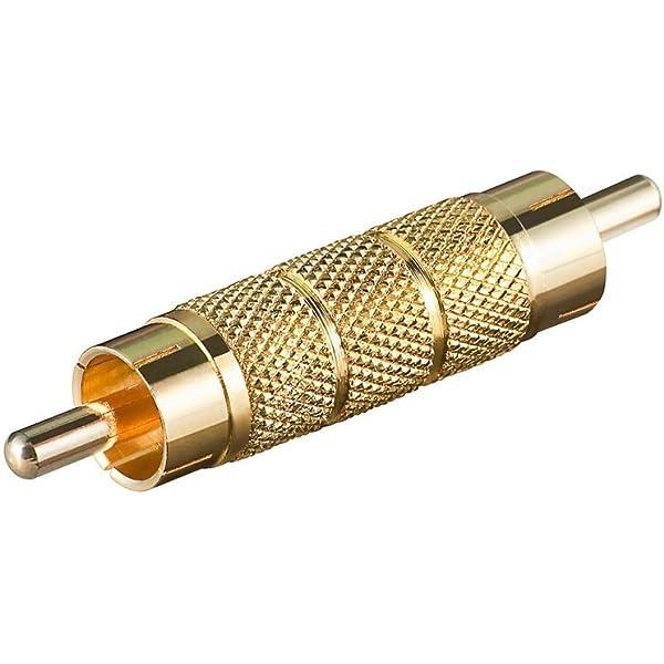 Adapter Vergoldet Cinch Stecker Auf Cinch Stecker Computer Zubehör