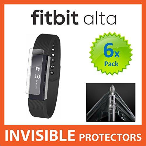 UNSICHTBARE Displayschutzfolie für Ihr FITBIT ALTA Fit Bit Watch x6 (Front) welche aus einem kratzfesten Material hergestellt wird