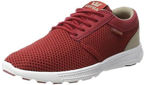 Supra Herren Hammer Run Sneaker, Rot (Brick Red-White), 44.5 EU Supra Schuhe Sneaker Herren Rot