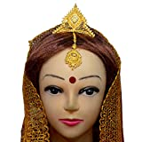 #7: Srijacollections Golden Crown Tiara Mukut for Bengali Indial Women Bride