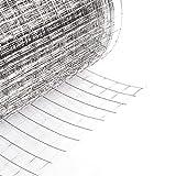 1.1*25m 4angoli rete metallica per recinzione zincata Griglia in metallo zincato griglia Polli recinzione giardino recinto