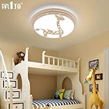 BRFVCS ceiling light Dormitorios niño plafón muchachos minimalista moderno Creative Cartoon chicas kindergarten clase balcón pasillo lámparas, jirafas -30W- tres sombra