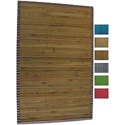MSV 140523 - Alfombra, Bambú, café oscuro, 80 x 50 x 0,1 cm