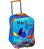 alles-meine.de GmbH Kinder Trolley -  Disney - Findet Nemo - Fisch Dory  - incl. Name - wasserabweisend & beschichtet - für Mädchen & Jungen - Trolly mit Rollen - Koffertrolley..