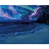 Full Drill Embroidery Paintings  Rhinestone Pasted 5D DIY Diamond Painting Cross Stitch Art Crafts Home Decor Best Gift  Star Sky and Beach (30x25cm)