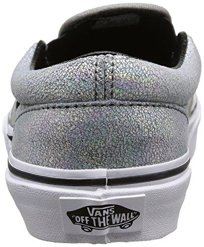 Vans Kids Classic Slip-on Matte Iridescent, Unisex-Kinder Sneakers Silber (matte Iridescent/silver)
