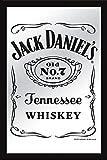 Close Up Jack Daniel's XL Spiegel - New Jack mit Rahmen (30x 40cm)
