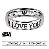 STAR WARS I Love You So Anello Edizione Speciale con confezione regalo Premium paio Han Leia, acciaio inossidabile, 11, cod. SW-IK