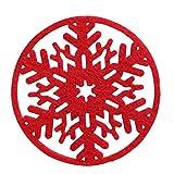 UHAoo 8pcs Natale Atmosfera Neve Forma Coaster Decorazione della tavola Tessuto Non Tessuto in Feltro stuoia della Tazza