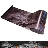 Fisch Maßband für Angler, 130cm x 20cm mit Kunststoff Anschlag, Fish Scale, Zander Design