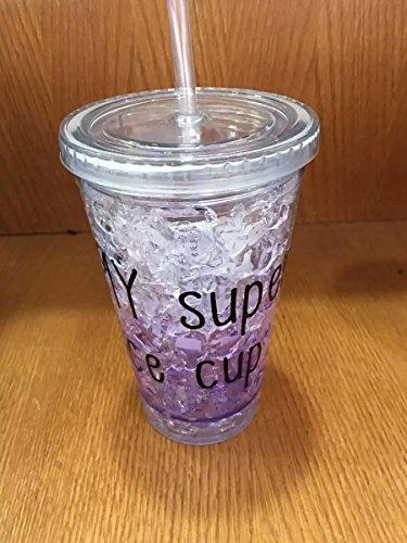 Satyam Kraft Frosty Mason Jar Super Ice Cup with Straw - Purple