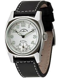 Zeno Watch Basel 6164-6-a3 - Reloj analógico manual para hombre con correa de piel, color negro