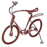 MagiDeal Messing Fahrrad Figur Fahrradmodell Geldgeschenk Fingerfahrrad als Dekoration und Geschenk
