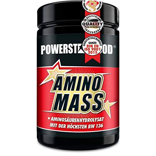 AMINOSÄUREN-KOMPLEX AMINO MASS, die hochdosierte beste Aminosäure mit der weltweit höchsten biologischen Wertigkeit von 136 - Proteinqualität- zum Aufbau von Muskelmasse (500 Tabletten)