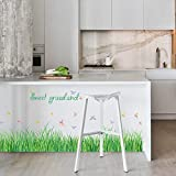2017 Primavera hierba maceteros de guisantes etiquetas de papel tapiz de pared de vinilo pegatinas de plantas de jardín de niños niñas dormitorio casa vivero decoración bricolaje,White Orchid - STICKERKING115 - amazon.es