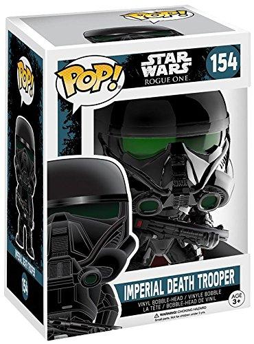Preisvergleich Produktbild Star Wars Rogue One - Imperial Death Trooper (Chromed) Vinyl Bobble-Head 154 Sammelfigur Standard