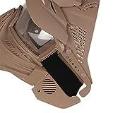 Airsoft-Maske, Maske für das ganze Gesicht, Mesh-Maske, Schutzmaske, Militärschutzmaske, ideal für Paintball / Halloween-Kostüm, von HaoYK, hautfarben - 6