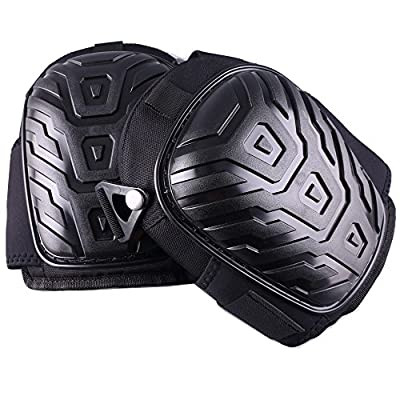Professional Knee Pads with Heavy Duty Foam Padding and Comfortable Gel Cushion, Strong Double Straps and Adjustable Easy-Fix Clips produced by KPYWU - quick delivery from UK.