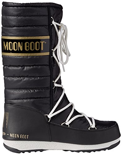 Moon Boot W.E. Quilted, Stivali, Unisex - adulto Nero/Oro