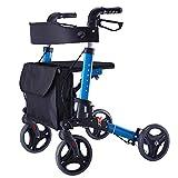 Tx Ältere Menschen Walker/Senior Vier Runden Fahrzeuge Fahren Aluminiumlegierung Pulley mit Seat Walker