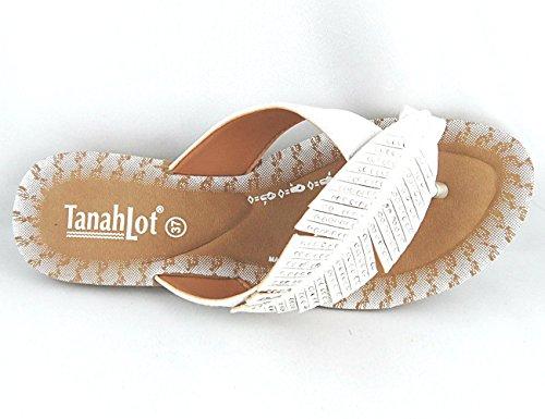 Tanahlot , Tongs pour femme Bianco