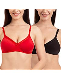 0f2522a699 Tweens Net Lace Padded Full Coverage T-Shirt Bra (Pack of 2)