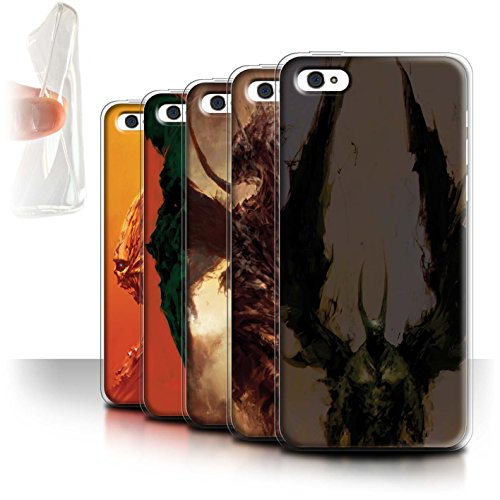 Offiziell Chris Cold Hülle / Gel TPU Case für Apple iPhone 5C / Pack 6pcs Muster / Wilden Kreaturen Kollektion Pack 6pcs
