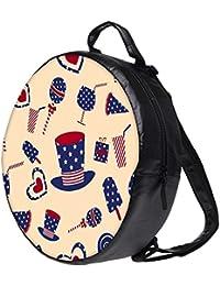 Snoogg Us Hat Bookbag Rounded Backpack Boys Girls Junior School Bag PE Shoulder Bag Lunch Kids Luggage