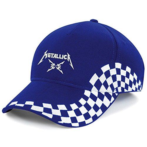 METALLICA Musik Rock Rockmusik Bestickte Logo Mütze Baseball Cap - Neu Kollektion -1125 (Blau) (Baseball-rock)