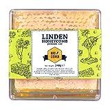 Linden Honigwabe | Honig von Hompass | Imker-Bienenhonig-Honig für gesundes Leben| Honigwabe| Wabenstück (340 Gramm)