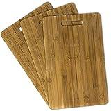 Hausfelder Bambus Schneidebretter | 3er Set | hochwertige Holz Schneidbretter Schneidematten (3 Stück 36x23x1cm)