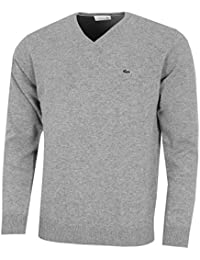 506a0527ac3b7 Lacoste Mens 2018 AH0844 V-Neck Wool Jersey Sweater