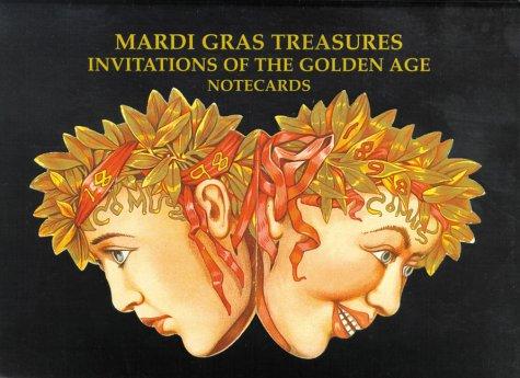 Mardi Gras Treasures: Invitations of the Golden Age Notecards: Invitations to the Golden Age Notecards