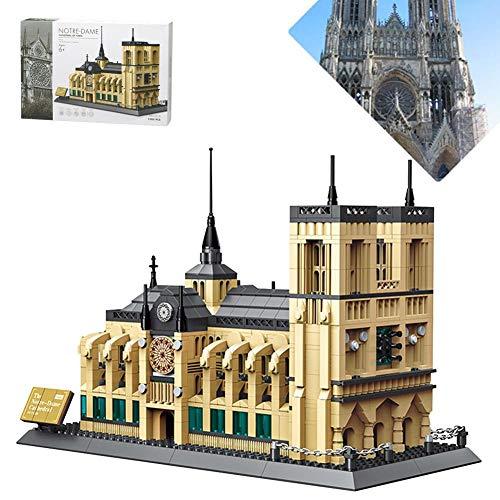 boastvi Notre Dame Kathedrale 1380 STÜCKE Pädagogisches Spielzeug 3D Puzzle BAU Build Set Modell Kit Für Kinder und Erwachsene, Ungiftig Gebäude Spielzeug Handwerk Spiel